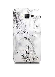 White & Black Marble Samsung On7 Case
