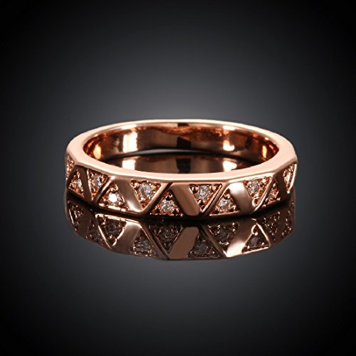 Elegant Women Xmas Gift Rose Gold Filled Plain Cut Smooth Copper Ring Size 8 (Copper Rings compare prices)