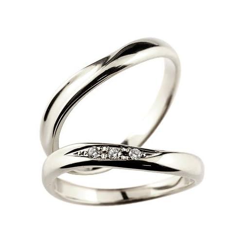 [アトラス] Atrus 結婚指輪 ペアリング キュービックジルコニア 2本セット 指輪 シルバー925 SV925 マリッジリング