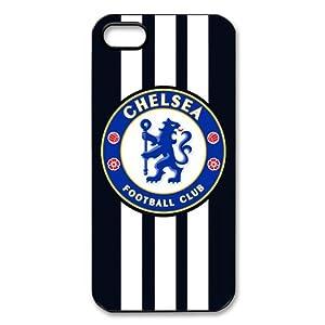 Chelsea FC Club The Blues Team Logo Vertical Stripe Pattern Apple iPhone 5/5s Nice Durable Case