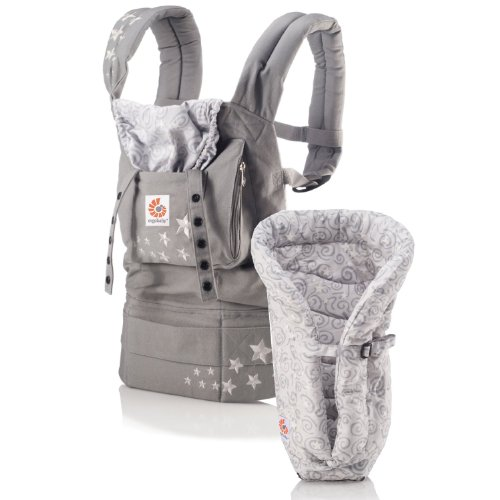 d6fc8df7841 ERGO Baby Carrier Bundle of Joy - Original Galaxy Grey with Galaxy Grey  Insert