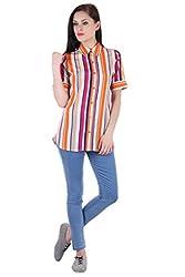 Bonheur Women's Multicolor Shirt (BH-013-Multi-L_Multi_Large)