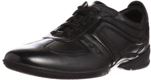 Clarks Flux Spring Black Leather 203390557085, Men's Lace-Up Trainers - Black, 8.5 UK