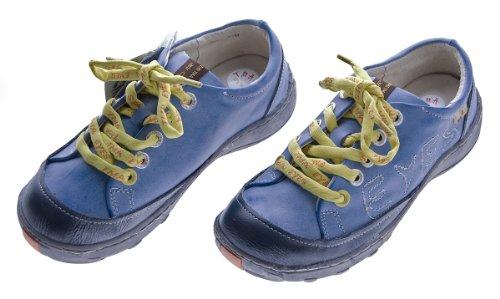 Leder Damen Halb Schuhe TMA Eyes Comfort Sneakers Used Look Sky Blau Turnschuhe Gr. 36