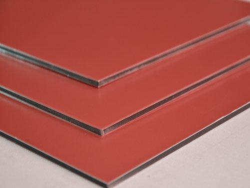 Aluminium Verbundplatte - 3mm - GELBROT/METALLIC - 0,1mm - 200mm x 200mm