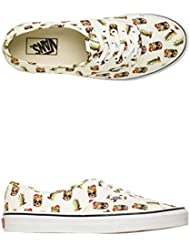 Vans Unisex Authentic Deck Club Skate Shoe White/Pineapple Print 11 D(M) US