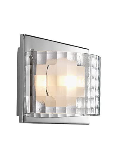 Progress Lighting Cliché 1-Light Vanity Fixture, Polished Chrome