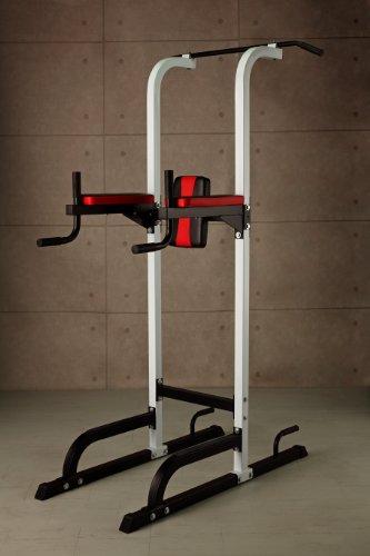 チン&ディップスタンド / 懸垂 腹筋 上半身強化 を徹底サポート!細マッチョの必須アイテム!!肩こり 腰痛 予防に!ダイエット にも!
