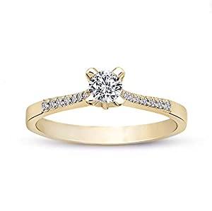 18 Carat Diamond Yellow Gold WEDDING ENGAGEMENT RINGS - Available also in 10K, 14K GOLD, 950 PLATINUM