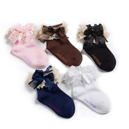 Deer Mum 5 Paris Girl'S Princess Cutie Style Cotton Socks (Pack 5) (S) front-932691