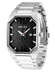 Police Women's PL-12895LS/02M Octane Octagon Black Dial Stainless Steel Watch