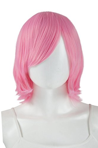 Epic Cosplay Chronos Princess Pink Cosplay Wig 14 Inches (02PPK) (Adult Short Pink Wig)