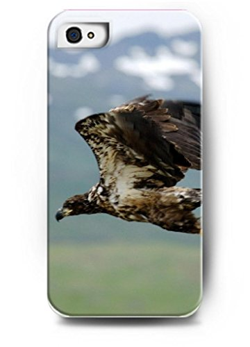 Ouo Stylish Series Case For Iphone 4 4S 4G With The Design Of A Eagle Flying Over Lake