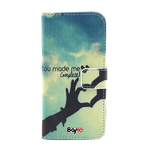 Bayke Brand / Iphone 6 Plus Case 5.5 Inch Beautiful Pu Leather Wallet Type Flip Case Cover With Credit Card Holder Slots For Apple Iphone 6 Pro 5.5 Inch Release On 2014 Case (You Made Me Complete Pattern)