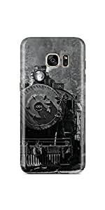 Casenation Steam Locomotive Samsung Galaxy S7 Edge Matte Case
