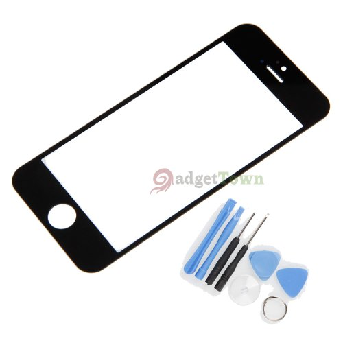 Replacement Lcd Front Screen Glass Lens + Tools For Iphone 5 5G Black