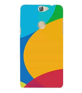 PrintVisa Rainbow Color Circle Pattern 3D Hard Polycarbonate Designer Back Case Cover for COOLPAD MAX