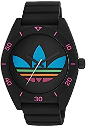 adidas Unisex ADH2970 Santiago Black Watch with Textured Silicone Band