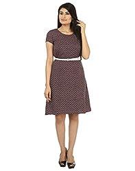 Coash Women A-Line Dress (KR-0616-34-S) Blue - S