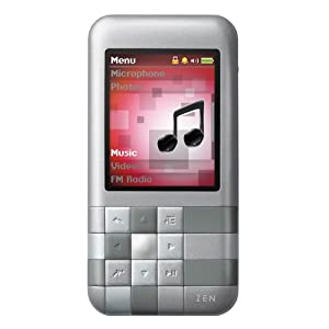 Creative Zen Mozaic 4 GB MP3 Player (Silver)
