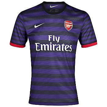 ARSENAL Junior 2012/2013 Away Football Shirt, Black/Purple, Age 13-15/XL