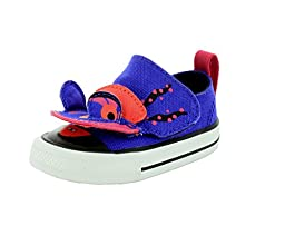 Converse Unisex-Baby Chuck Taylor All Star Creature Periwinkle/Berry Pink/Black Sneaker - 3