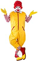 Adult Yellow Clown Costume (Size: Standard)