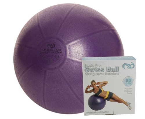 Fitness Mad 65cm Pro Swiss Ball (500Kg) with pump