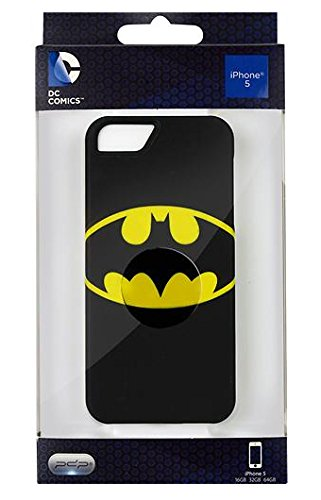 DC Comics IP1901 Distressed Emblems Hard Case for iPhone 5 & 5s - Retail Packaging - Batman
