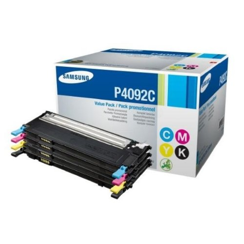 Samsung CLTP4092CELS|P4092C Toner Value-Kit (bk,c,m,y), 4.500 Seiten, Inhalt BK:1500 pg+CMY:1000 pg f&#252;r Samsung CLP-310 kompatibel zu CLP 315 N, CLX 3170 N, CLX 3175 FW, CLX 3170 FN, CLX 3175 N, CLX 3175, CLX 3175 FN, CLP 315 W, CLP 310 N, CLP 310, CLP 315