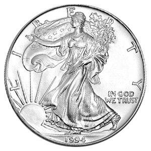 1994 American Silver Eagle Dollar - 1 oz. .999 Pure Silver - Choice Brilliant Uncirculated