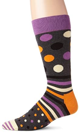 Happy Socks Men's Dots and Stripes 2, Assorted, 10-13