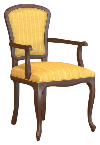 Selva SPA Epoca Mirabeau 8029853000496 Wood Armchair Classic and Elegant with Walnut Finish, 54 x 61/ 96/ 51 cm, Brown