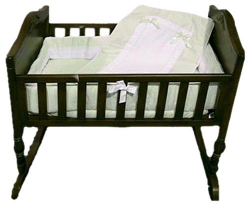 Baby Doll Bedding Royal Pique Crib Bedding Set, Sage