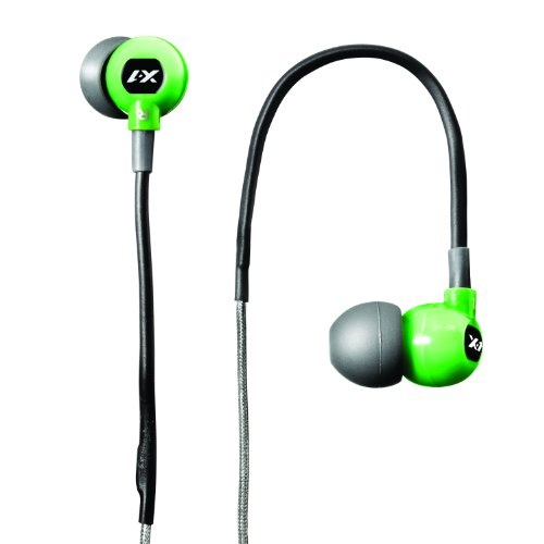 X-1 (Powered By H2O Audio) Tr1-Gn-X Trax Custom Fit In-Ear Sport Headphones (Green)