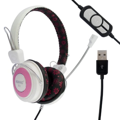 Generic Usb Comfortable B3 Stereo Audio Headphone Headset Earphone Ear Buds With Microphone For Pc Laptop Msn Macbook Computer Notebook Skype Chatting Gaming Listening Music