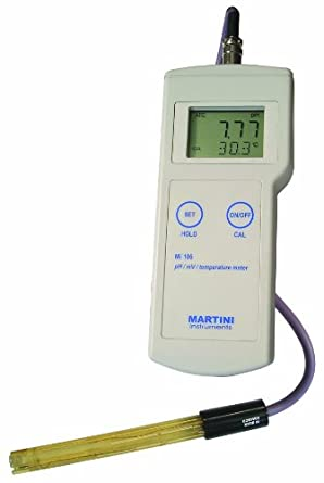 Milwaukee Mi106 Portable pH/ORP/Temperature Meter, -2.00 - 16.00 pH, +/- 0.02 pH Accuracy, 0.01 pH Resolution