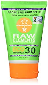 Raw Elements Eco Form Sunscreen, SPF 30 Plus, 3 Fluid Ounce