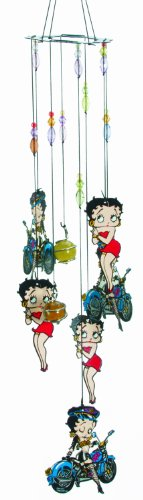 Spoontiques Metal Betty Boop Biker Wind Chime