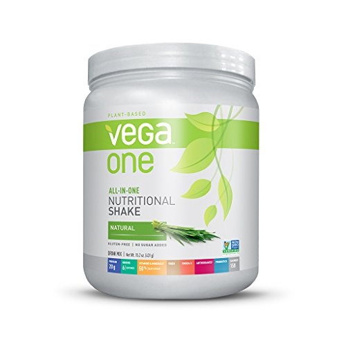 Vega One All-In-One Nutritional Shake, Natural, Small Tub, 15.2Oz front-171755