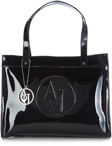 Armani Jeans Shoes & Bags De - 0520Brj, Acquirente da donna, nero (nero - black 12), 35x27x12 cm (B x H x T)