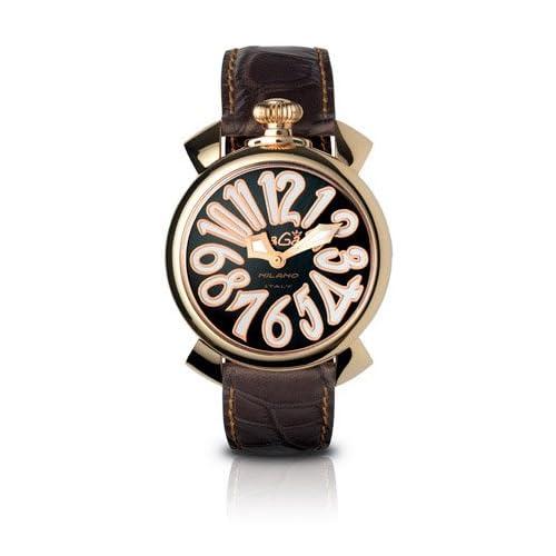 GAGA MILANO 5021.3 MANUALE 40MM 18KPVD ガガミラノ 腕時計 レザーベルト【並行輸入品】