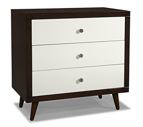Stork Craft Bayshore 3 Drawer Dresser with Tufflink Assembly, Espresso/White