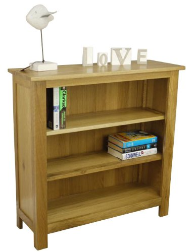SOLID OAKLAND CHUNKY OAK BOOKCASE / SHELVING STORAGE UNIT SMALL LOW WIDE *SOLID WOOD* *FREE DELIVERY*