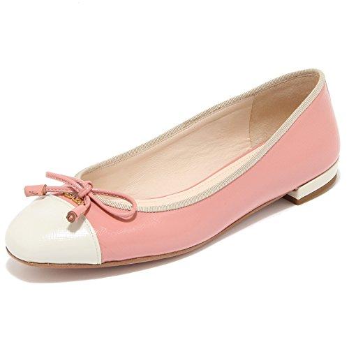 8308I PRADA ballerina donna shoes woman rosa/beige [37.5]