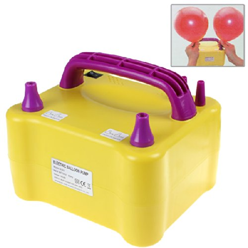 Origlam® Yellow 600W Electric Balloon Inflator With Two Nozzles Dual Inflation Ports Balloon Pump