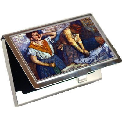 Two Cleaning Women By Edgar Degas Business Card Holder
