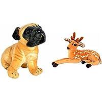 Deals India Hutch Dog(25 Cm) And Deer 32 Cm (set Of 2)
