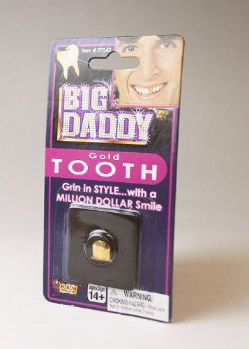ビッグダディ 金色の付け歯 金歯 ゴールドトゥース ジョークグッズ 仮装 変装 (品番57542)