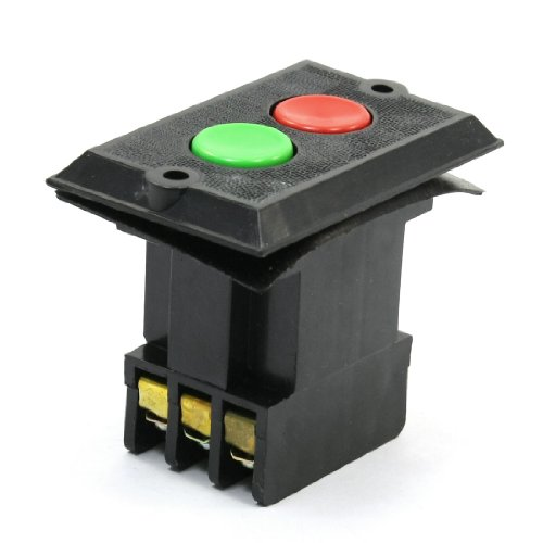 380V 5A ON/OFF 3 Phase NO NC Latching Pushbutton Push Button Switch red sign mushroom push button emergency stop switch twist release 22mm 1 no 1 nc lay38